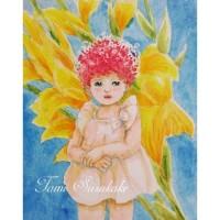 絵画販売・水彩原画「赤毛の子」