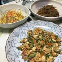 晩ご飯☆ゴーヤチャンプルー&プチプチ海藻麺の中華サラダ☆