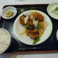 鶏のから揚げと野菜甘酢がけ定食