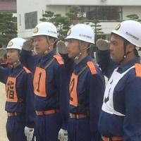 松川村消防団ポンプ操法大会