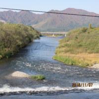 秋晴れ快晴天高く熊肥ゆる秋 清流三面川水系…