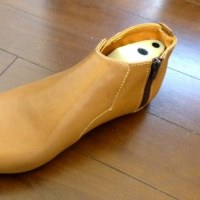 革靴の自作ⅲ アッパー革のスクイ縫い