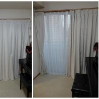 オーダーカーテンとウッドブラインドの施工例