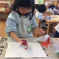年少組☆2月のカレンダー制作・英語教室