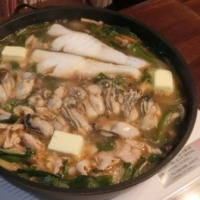 とんこつ味噌鍋&ハムチーズサンド&ワッフル