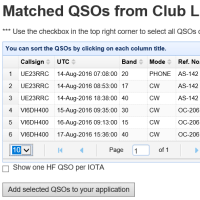 Club Log QSO Matches