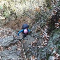 両神山塊 赤岩尾根 岩場技術講習登山