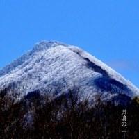 樹氷と県境の山。