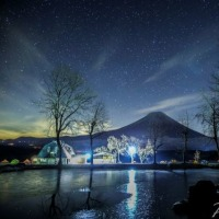 夜中の高原