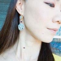 【香るアクセサリー】香珠codama〜世界でたった1つのアロマイヤリング〜精油付き♪天然石編