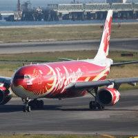 エア アジアX. 特別塗装機 2機  クアラルンプール デイリー運航