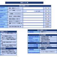 検索エンジン集サイト