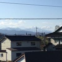 4/23今朝の「立山連峰」