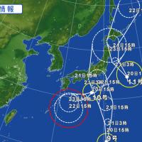 三つ巴の台風