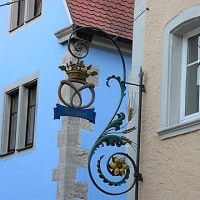 ドイツの装飾吊り看板(ベーカリー)