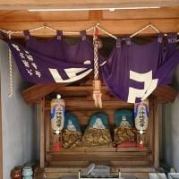 京都の街角で出くわした三体地蔵さん