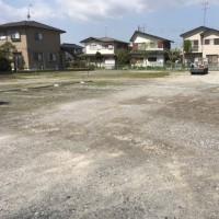 月極駐車場 第一回 定期除草作業 気温26度夏日 茨城 利根