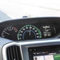 フルスケール220km/hのスピードメーター