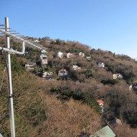 熱川別荘(友人保有) 高台のベランダから夜明けの伊豆の海