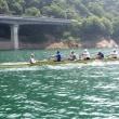 宮ケ瀬湖でボート合宿
