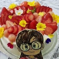 ★仲良し女医さん似顔絵の誕生日ケーキ☆
