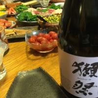 刺し身にはヤッパリ日本のお酒ダヨネ〜 獺祭スパークリング!