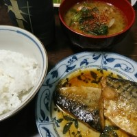「昨日の晩御飯」!!「サバのみぞれ煮」!!
