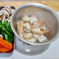 菜の花の海鮮炒め
