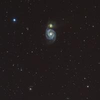 【りょうけん座】 M51 冬季休眠明け