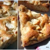 またまたシンプル カロリー低くめのプラムケーキ。林檎とでも