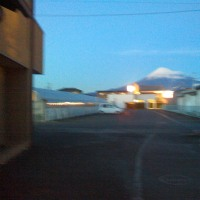 富士教室からの富士山