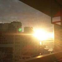 那覇市泊港の夕陽😉凄い😜
