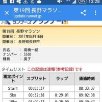 【2017.4.16 第19回長野マラソン完走記】