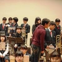定期演奏会へ向けてジョイント参加校と合同練習を行いました