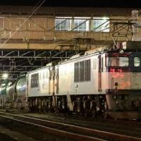 小雨降る南松本駅構内で・・・