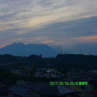 2017年5月26日、朝の桜島