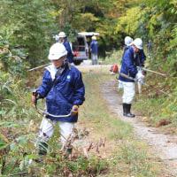 ボランティアで林道整備