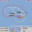 台風5号の動きが可笑しいです。1周してから日本に向かってきます。