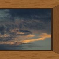 平成28年10月25日(火)午後5時13分の西空<前の畑から>