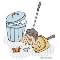 自治会の清掃へ