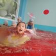 あお 3歳児 製作・プール