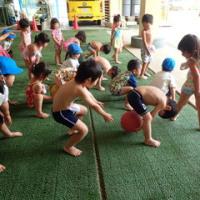あお 3歳児 プール・楽器遊び