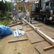 「しりばさみ」12m材を吊り上げる 川袋M邸