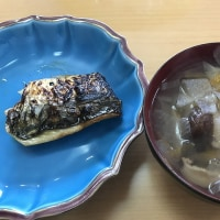 塩鯖と根菜スープ Salted mackerel  and Root vegetable soup