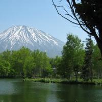 名峰蝦夷富士羊蹄山・・・