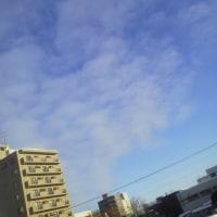 2017/1/17   午前8時過ぎ札幌の空模様 阪神・淡路大震災から22年。1969/1/17( AM5:46:52)