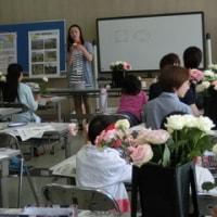 「なとり・ぐるっと親子講座」フラワーアレンジメント体験が開催されました