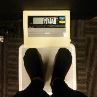 今日もジムへ  体重60.9