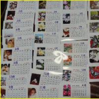 今年の自作カレンダー