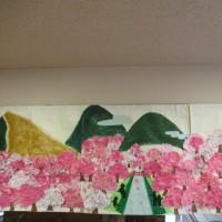 やり投げ・春の壁画